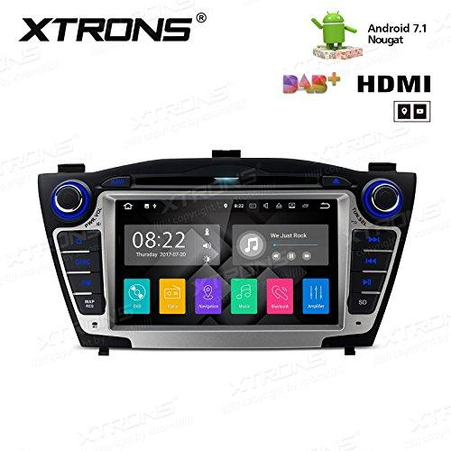 XTRONS® HDMI Android 7.1 Quad Core 7 Inch HD Digital Touch Screen Car Stereo Radio DVD Player GPS for Hyundai Tucson IX35 2009-2015