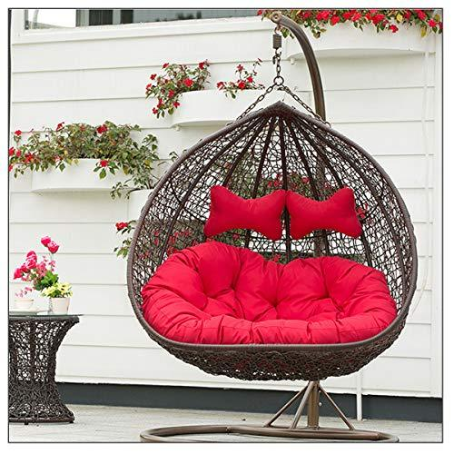 XULONG Luxury 2 Person Swing Chair With Waterproof Cushion Outdoor Porch Furniture - Perfect For Patio Garden Porch Indoor Bedroom,Brown