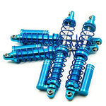 XUNJIAJIE 4pcs 100mm Aluminum Piggyback Shocks Absorber Springs Shocks Set for 1/10 RC Rock Crawlers Car Cars D90 SCX10