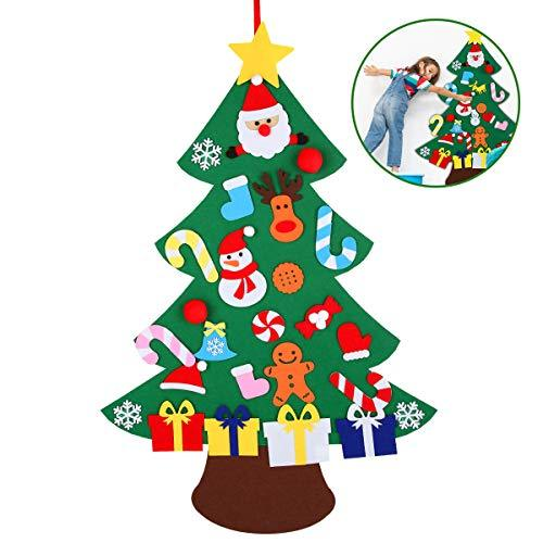 Xunlong 3.4t Felt Christmas Tree Set with Ornaments New Year Wall Hanging DIY Decoration Xmas Gift for Kids