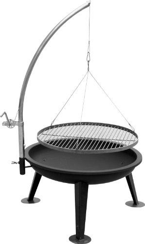 "XXL ""Barbecue with LINUS80 80 cm Fire Bowl Grill Charcoal BBQ &New Original Packaging with practical handle and TOP quality boom"