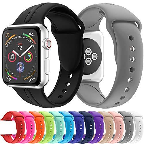 Y56(TM) For Apple Watch 44mm Straps - Classic Soft Silicone Replacement Straps Adjustbable Wristband Sport Bands iWatch Accessories for Apple Watch Series 4 44mm Women Men (14 Pack)