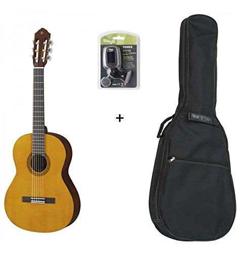 Yamaha CS40 3/4 – 3/4 Size Classical Guitar Pack (+ Tuner and Cover)