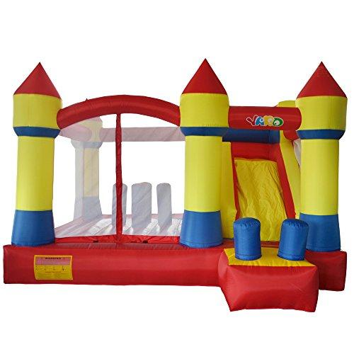 Yard Bounce House Outdoor Fun Inflatable Bouncer Combo Slide with Blower Kids Playing Ground