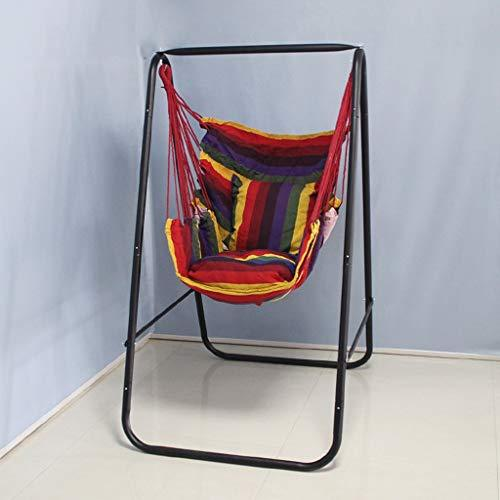YFQ Hammock Chair Portable Outdoor Indoor Home Dormitory Cradle Swing Camping Hammock Hiking Hunting Garden (color : Red)