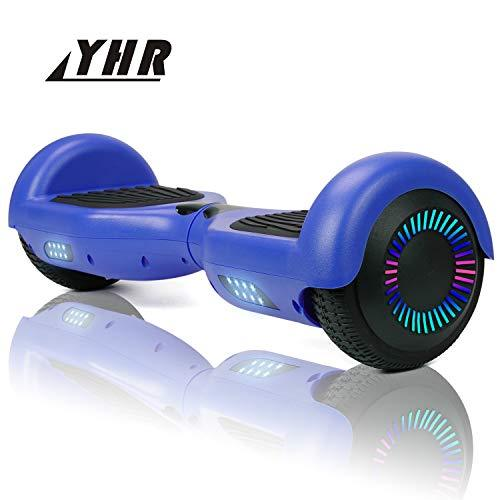 YHR 6.5inch Hoverboard for Kids and Adults, Self-Balacing Electric Scooter with Led Colorful light,Segway Hoverboard with Free Carrg Bag and UK Charger