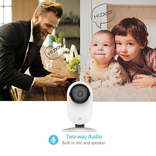 YI 2pc Home Camera Indoor Wireless IP Security Camera Surveillance System  with Night Version, Two-way Audio, Activity Alerts for