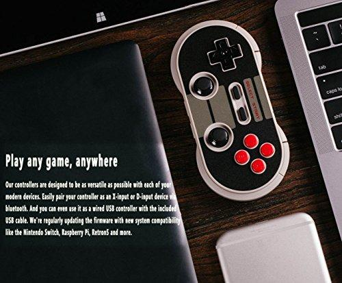 YIKESHU 8Bitdo Wireless Bluetooth Controller Classic Nintendo Gamepad  Joystick for Mac OS, Android and Windows Devices (NES 30 PRO)