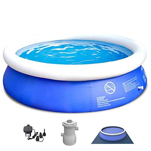 YIRUN Round Frame Swimming Pool Family Inflatable Paddling Pool Round Pool Easy To Assemble And Disassemble With Filter Pump,450x106cm/14.76x3.47ft