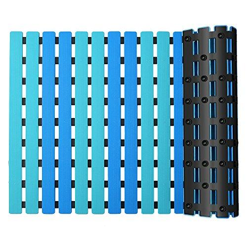 YISUN Bath Shower Mats Non-slip Suction Cup Square Durable Plastic Bathroom Bathtub Shower Floor Mat Anti-mold and Anti-bacterial (40cm*63cm/15.7in*24.8in)