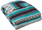 YogaDirect Deluxe Mexican Yoga Blanket, Turqoise