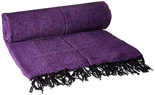 YogaDirect Solid Mexican Yoga Blanket (Purple)
