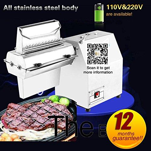 Yoli® Commercial restaurant Meat Tenderizer machine electric Meat Tenderizer machine meat cutting machine for Beef fillet,beefsteak with two knives (220V/50HZ)