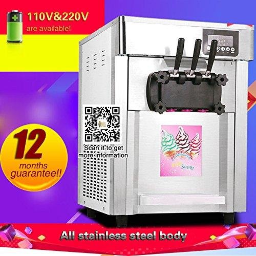 Yoli® ice cream making machine with three flavor, stainless steel ice cream maker,soft ice cream machine,110V/220V