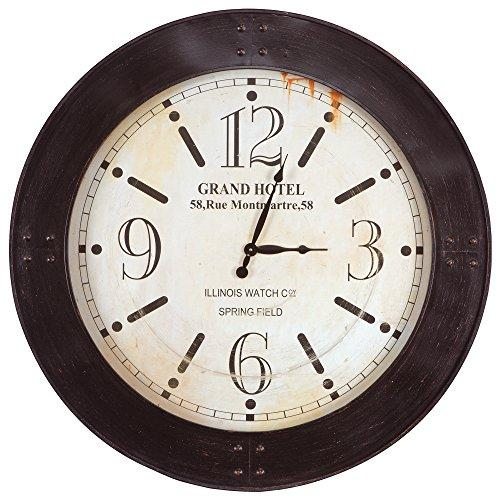 Yosemite Home Decor Weathered Circular Wall Clock, Multicolor