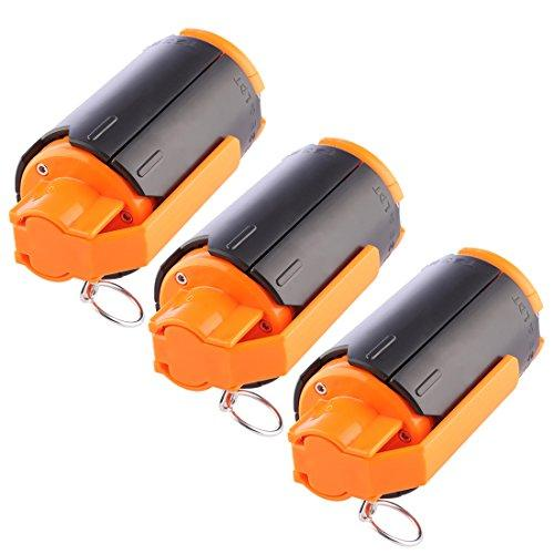 YOU339 CS Grenade, 3Pack Water Bullet Bomb Hand Grenade Toy for Nerf CS Game