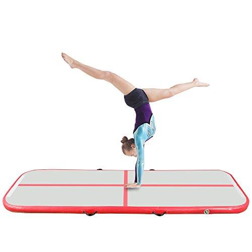 Young Life Air Track Tumbling Mat 300X95X10 cm Air Training Track Pad for Cheerleader, Gymnast, Sports Training Inflatable Gymnastics Mat Flooring Mat Air Track Gymnastics Tumbling Mat Red TCD-005