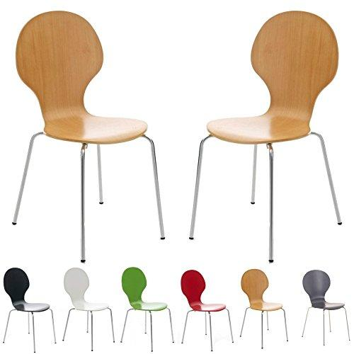 Your Price Furniture 2 Keeler Style Kimberley Chrome and Metal Stackable Dining Chairs Choice of Slate Grey Red Green White Black or Natural - Kitchen Cafe Bistro Stacking Chairs (Natural)
