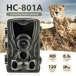 "YTIANG Trail Camera, 16MP 1080P Wildlife Game Cam with Infrared Night Vision 20M Motion Activation, 3 PIR Sensor 36pcs IR LED 2.0"" LCD Waterproof, Suitable for Outdoor Hunting Home Security"