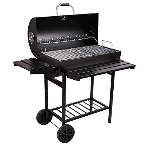 YUANZHOU Portable Charcoal BBQ Grill Outdoor Smoker Barbecue Grills With Wheels For Camping Hiking Picnics Patio Backyard Cooking Black