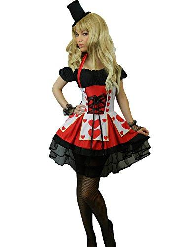 Yummy Bee Queen Of Hearts Fancy Dress Costume Plus Size 6 22 Ladies