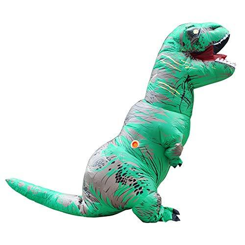 YUYOUG_Squishy 2018 Newest Inflatable Blow Up Adult Dinosaur T-Rex Halloween Horror Party Fancy Dress Costume Party Outfit Suit for Adult and Kids-2.2M/7.2ft , Multicolor (Green)