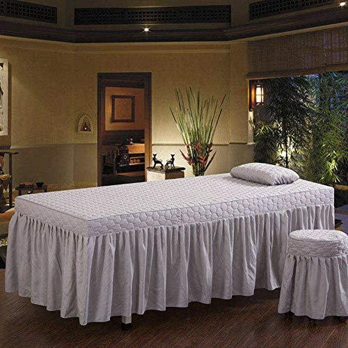 YXLJYH European style Solid color Beauty Bed cover Massage table sheet sets Single Bed skirt sheet Physiotherapy Bedspreads Therapy bed universal with hole -K 70x185cm(28x73inch)