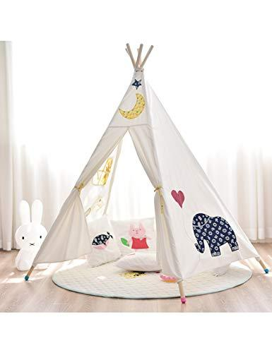 YXYSHU Cute Animal Tree Graffiti Kids Play Tents Tower Portable Folding Tent House Indoor Tent For Kids Children Bed Decor