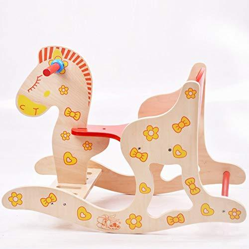 YYWJ Baby Wooden Rocking Horse Infant Educational Toy Rocking Horse 1-5 Year Old Child Rocker Toddler Chair Cartoon Toy Small Bench Gift entertainment