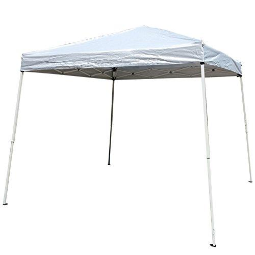 Z ZTDM Easy Pop-Up Instant Event Canopy Gazebo Party Tent Folding Portable Shelter Slant Leg with Carrying Bag-10' x 10' White