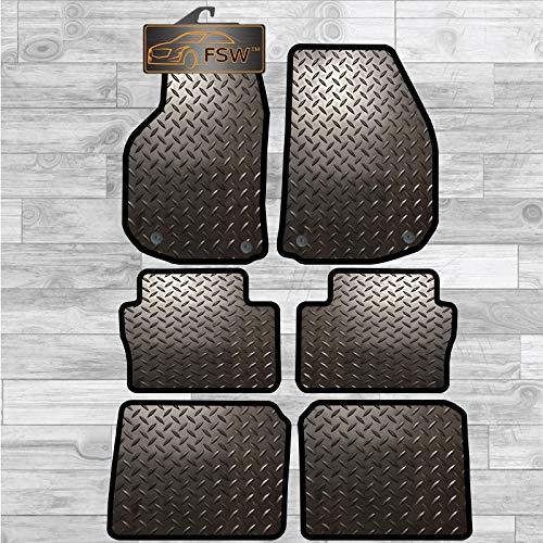 Zafira 2006 On 6 Peice Tailored 3MM Rubber Heavy Duty Car Floor Mats