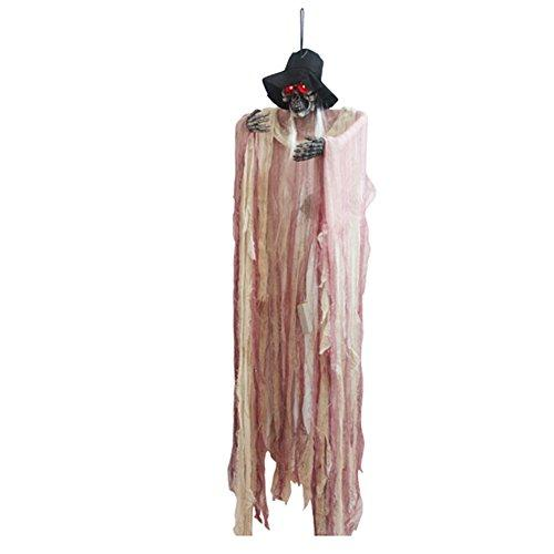 Zantec Skeleton Hanging Witch Ghost Voice Activated Scary