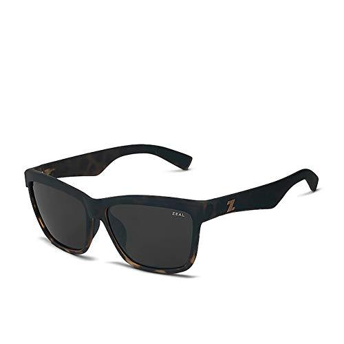 Zeal Kennedy Sunglasses - Torched Tortoise/dark Grey Lens