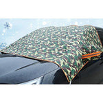 Zhhlaixing Waterproof Durable Car SUV Vans Front Window Mirror Thick Cotton Padded Cover Protector All Weather Shield Car Accessory