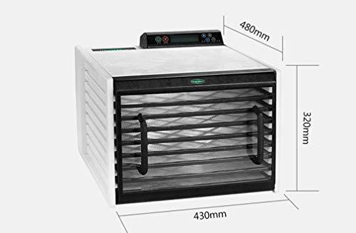 ZJHGJ Food Dehydrator, 6 Layer Household Small Silent Energy Saving Intelligent Fruit Dryer, 500W