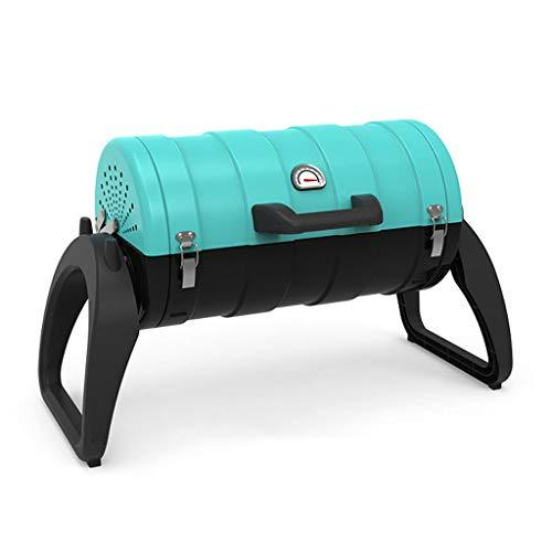 ZJJ& BBQ Charcoal Barbecue Grill Outdoor Home Portable Grilled Carbon Stove Grill(BLUE)