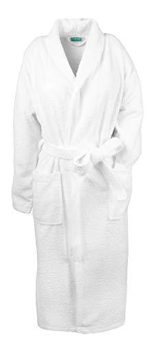 ZOLLNER Dressing Gown for Men and Women, Cotton, White, Size 6XL