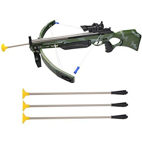 ZSHJG Toy Crossbow Outdoor Child Toy Bow & Arrow Archery Set Crossbow Garden Games Crossbow Kit with 3 Sticky Sucker Suction Darts for Kids