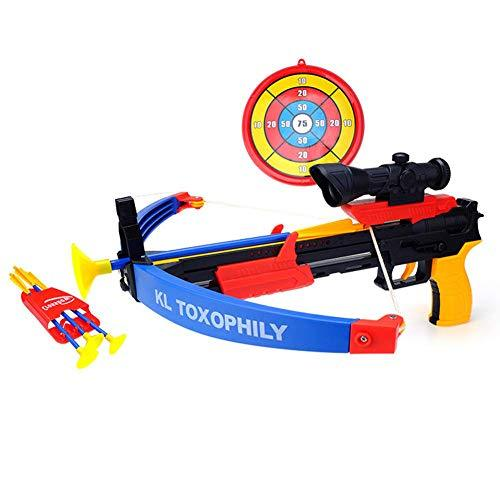 Z@SS Children's Crossbow Archery Set Toy,Cross Bow Arrow Target Board with Targeting Scope Safe Sticky Sucker Darts Boy Toy Outdoor Garden