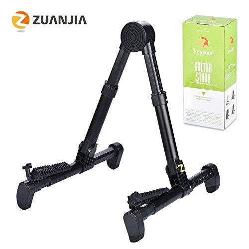 Zuanjia ZS-02 Guitar Stand for Acoustic/Electric/Classical Guitars and Violin, Ukulele, Bass, Banjo, Mandolin - Folding, Portable and Lightweight - Fits Your Gibson/Fender/Taylor/Yamaha Music Instrument -Black-Lifetime Warranty