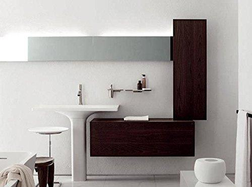 Zucchetti Kos bathroom furniture Faraway suspended column with door 8MB02ATLC