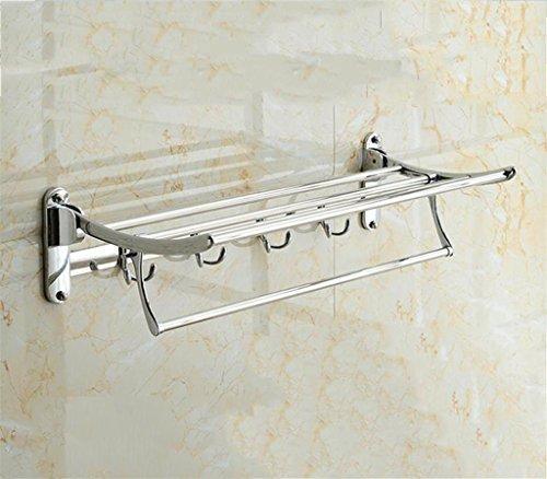 ZXLIFE@Kitchen Furniture Towel BarTowel rack stainless steel bathroom Towel rack Hardware Pendant bathroom activity fold Shelf Bathroom Set , C