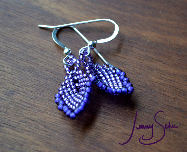 Mini Ultraviolet Pod Earrings with Edging