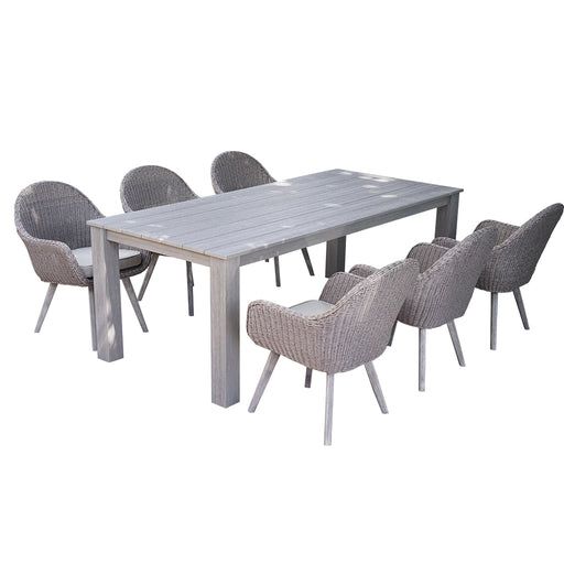 Colorado  Dining Set Of 7 Pcs