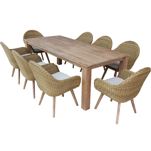 Colorado Dining Set Of 9 Pcs