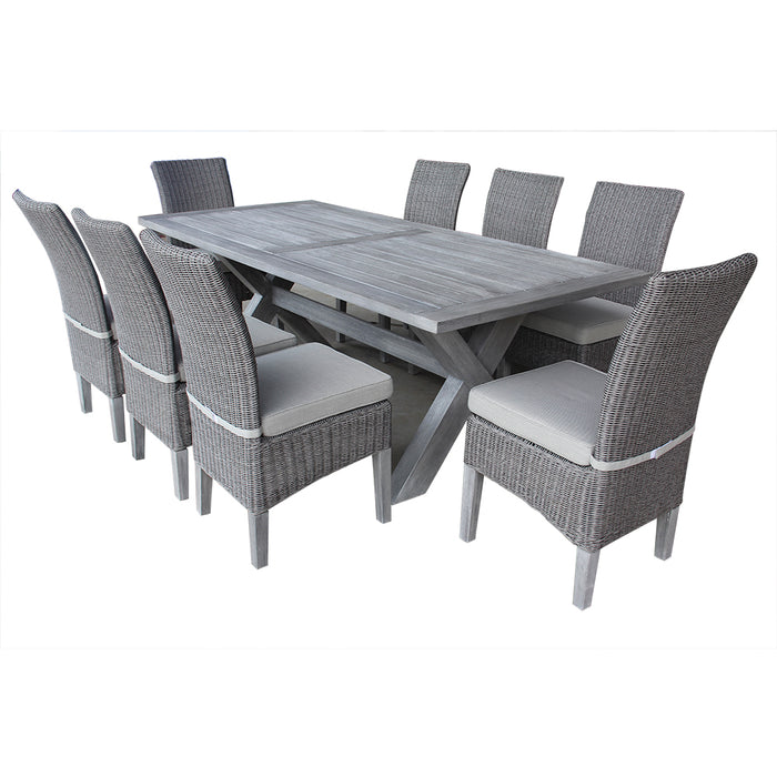 Charlotte Dining Set Of 9 Pcs