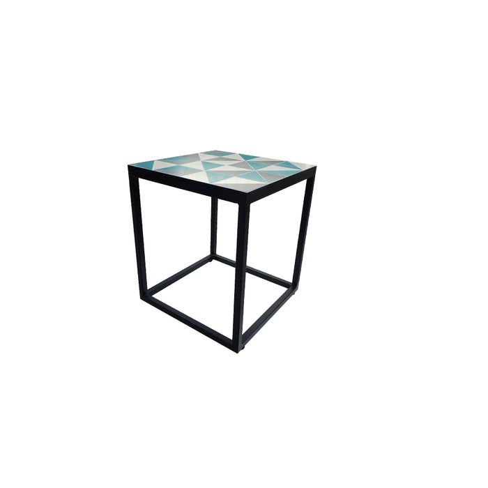 Square Mosaic Side Table