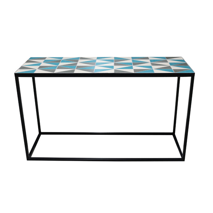 Rectangular Mosaic Console Table