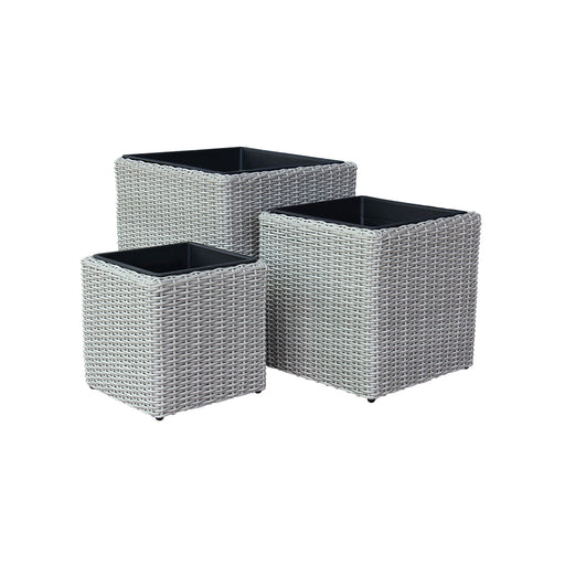 Indoor Wicker Cube Pot Size L D45cm