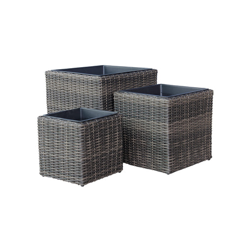 Indoor Wicker Cube Pot Size M D37cm